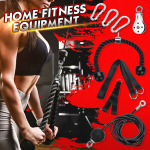 """55-98/"""" Fitness DIY Pulley Cable Machine Set Biceps Triceps Arm Strength Training"""