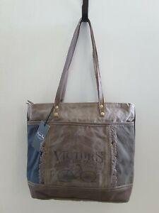 Myra Bags Victors Tote Bag Vintage Style Bicycle Canvas Handbag 819699023524 Ebay Myra bag shoulder bag, br. ebay