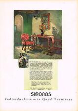1920's BIG VINTAGE Simonds Toledo Chair Furniture Byron G Newton Art Print AD