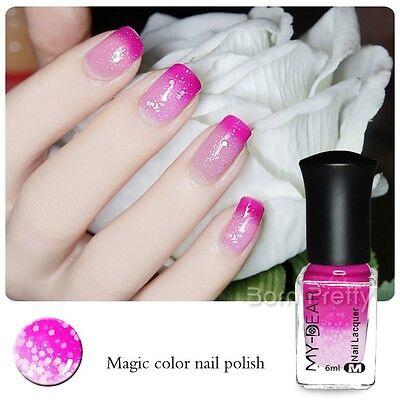 6ml Thermal Nail Polish Color Changing Peel Off Peachblow to Pink Nail Varnish