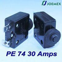 Joemex Pe74 Series 30a Thermal Overload Circuit Breaker 125vac 50vdc