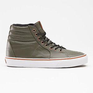 bab79b0efa80 Details about Vans SK8-Hi Coated Men s Shoe Olive Green Skate Casual Street