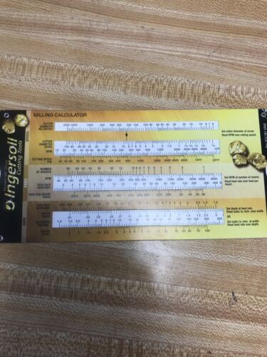 Ingersoll Cutting Tools Milling Calculator Calculate Feeds And Chip Load
