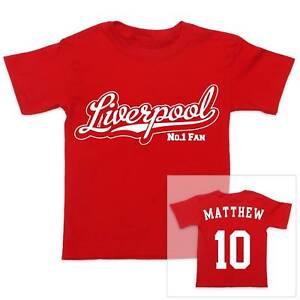 Futbol-Liverpool-Personalizado-De-Nino-CAMISETA-CHICA