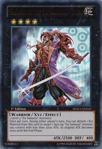 Yugioh Sdwa En041 Shadow Of The Six Samurai Shien Xyz Monster For Sale Online Ebay