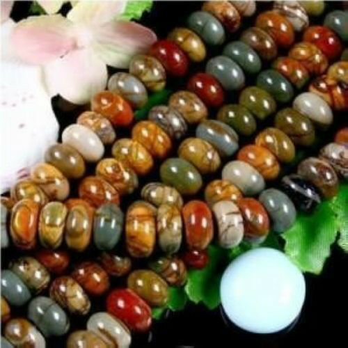 "5x8mm Multicolor Picasso Jasper Gems loose beads 15/"""
