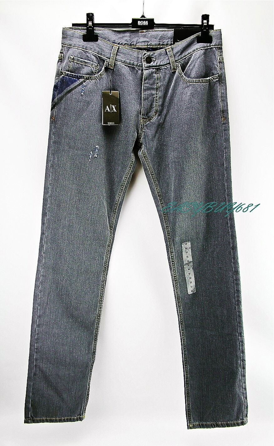 A X ARMANI EXCHANGE J130 SKINNY Distressed JEANS Low Rise 100% Cotton, Authentic