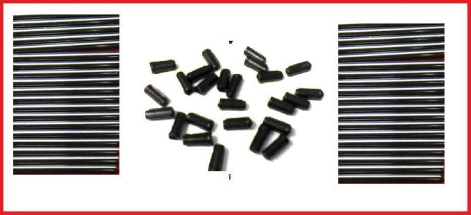 Angling Supplies Plastic or Rubber Inline Carp Lead Mould Inserts Tubes