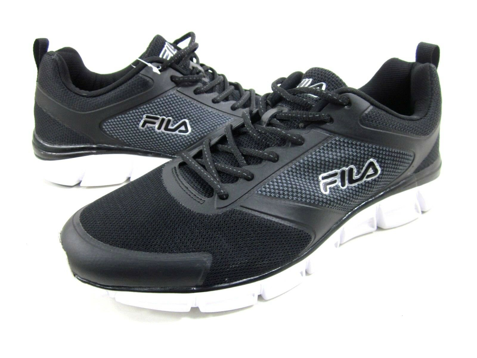 FILA MEN'S WINDSHIFT 15 ATHLETIC RUNNING SHOES,BLACK/WHITE,US SIZE 11,MEDIUM, New shoes for men and women, limited time discount