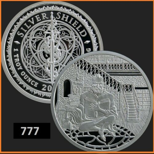 2019 1oz SAGE Conscientia #14  AG 999 PROOF SILVER SHIELD GROUP SSG 777