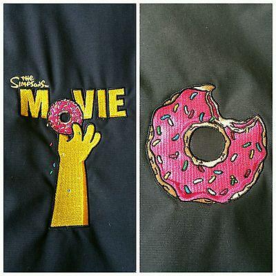 Rare The Simpsons Movie 2007 Cast And Crew Black Columbia Jacket Eaten Donut Xl Ebay