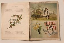 23945 Little may drawings by ida waugh 1880 children book