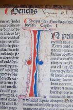 1483 incunable incunabula complete Bible - Biblia Sacra - blue & red rubrication