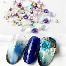 Nail Art 3D DIY Rose Jewelry Gems Mix Nail Art Decoration Glitter Rhinestones H7