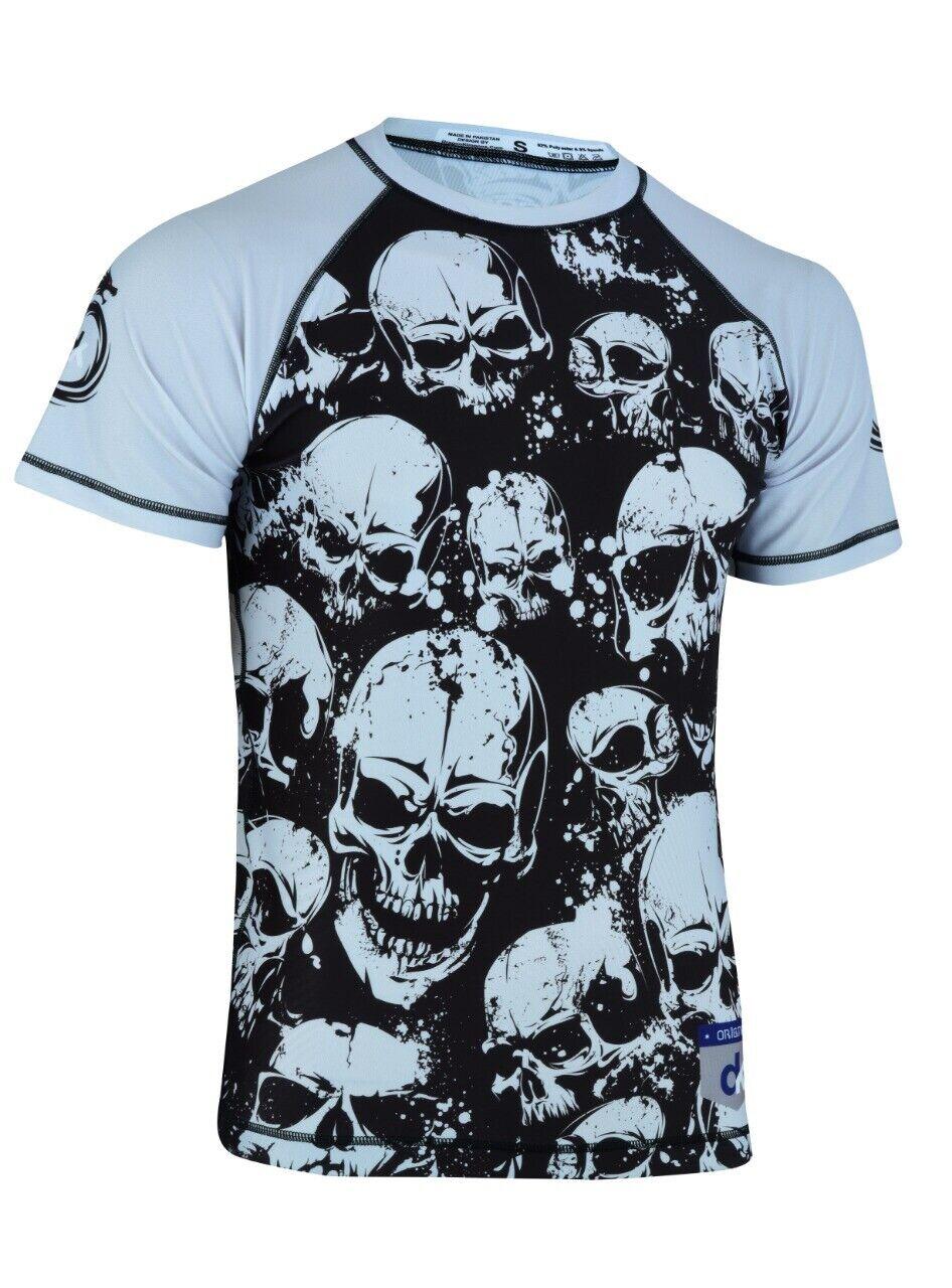 NEW DRAGON SKULL  Compression Shirt Rash Guard MMA Gym Fitness BJJ UFC Fight Wear  best-selling