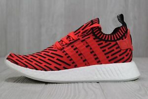 37 Adidas NMD R2 Primeknit Running Shoes Core Red Black