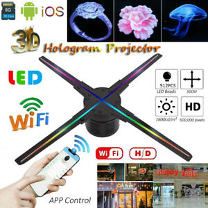 224 LED /384 LED WIFI HD 3D Hologram Projector Holographic
