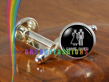 Game Over Cufflinks Mens Silver Groomsmen Wedding Bachelor Party Gift Gifts