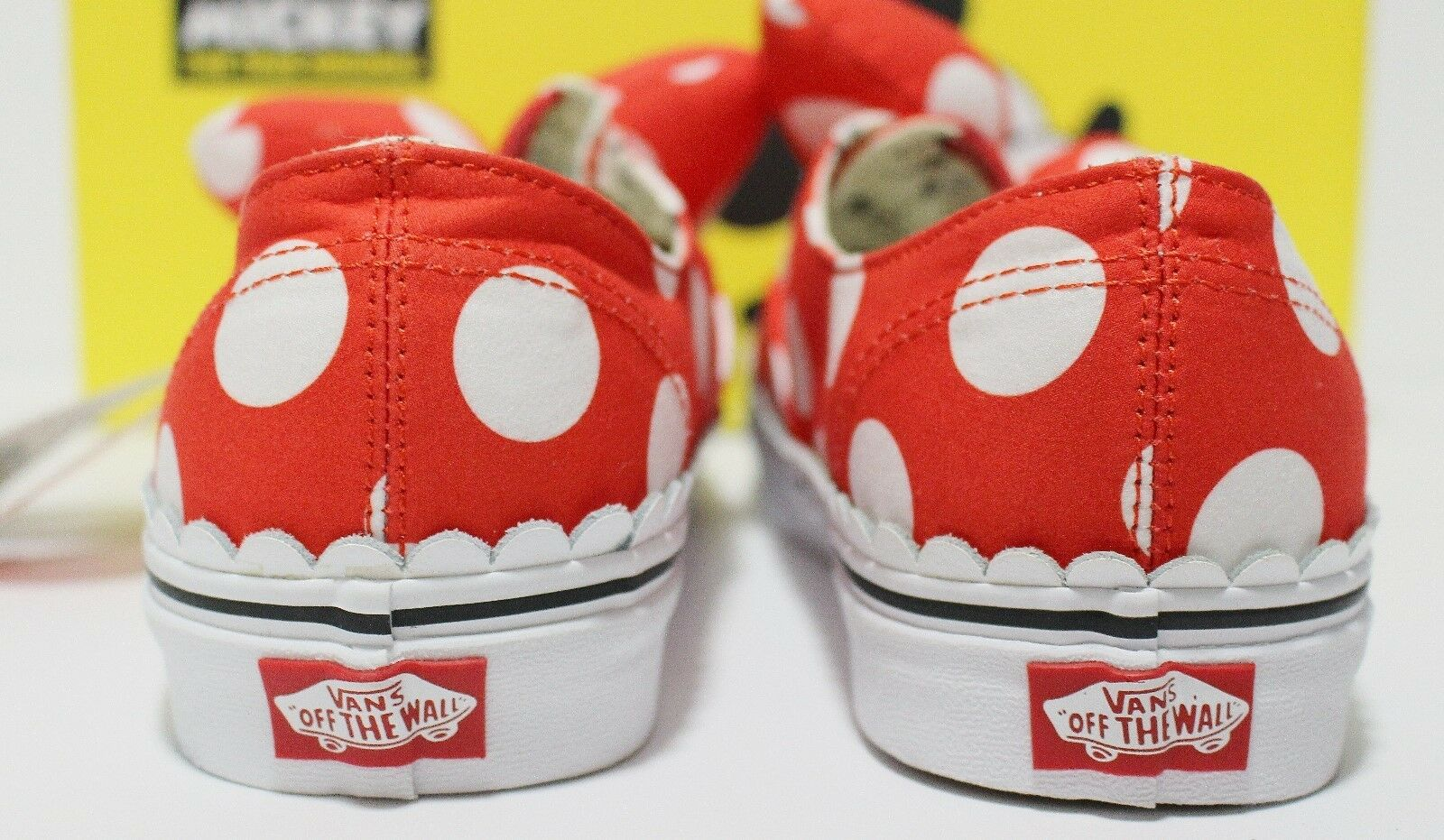 Vans X Disney Authentic Gore Gore Gore Minnie's Bow Red White Women's Size  10 (UK 7.5) 7e02db