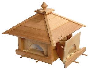 xxl eichenholz vogelhaus gro mit 4 schubladen vogelh uschen vogelfutterhaus neu ebay. Black Bedroom Furniture Sets. Home Design Ideas