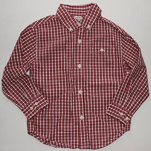 Gymboree holiday magic christmas plaid button down shirt size 4 euc