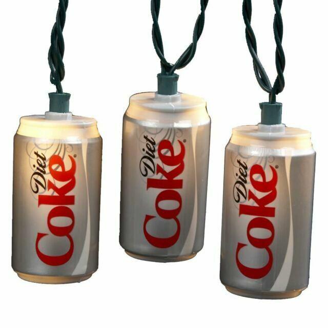 Coca Cola Diet Coke Coca Cola Cans String Lights Set of 10 New