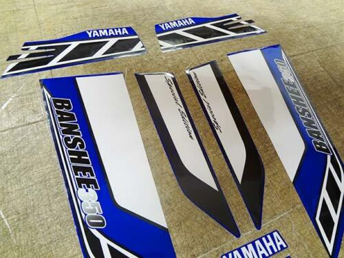 Yamaha banshee quad stickers graphic decal 10pc Special Edition Blue//Black//White