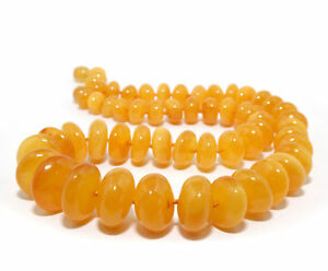 Einzigartig-Natur-Bernstein-Kette-Poliert-Gelb-Bernsteinkette-Halskette