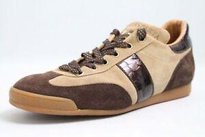 D-039-ACQUASPARTA-Schuhe-beige-braun-Leder-Wechselfussbett-Gr-39-5-UK-6