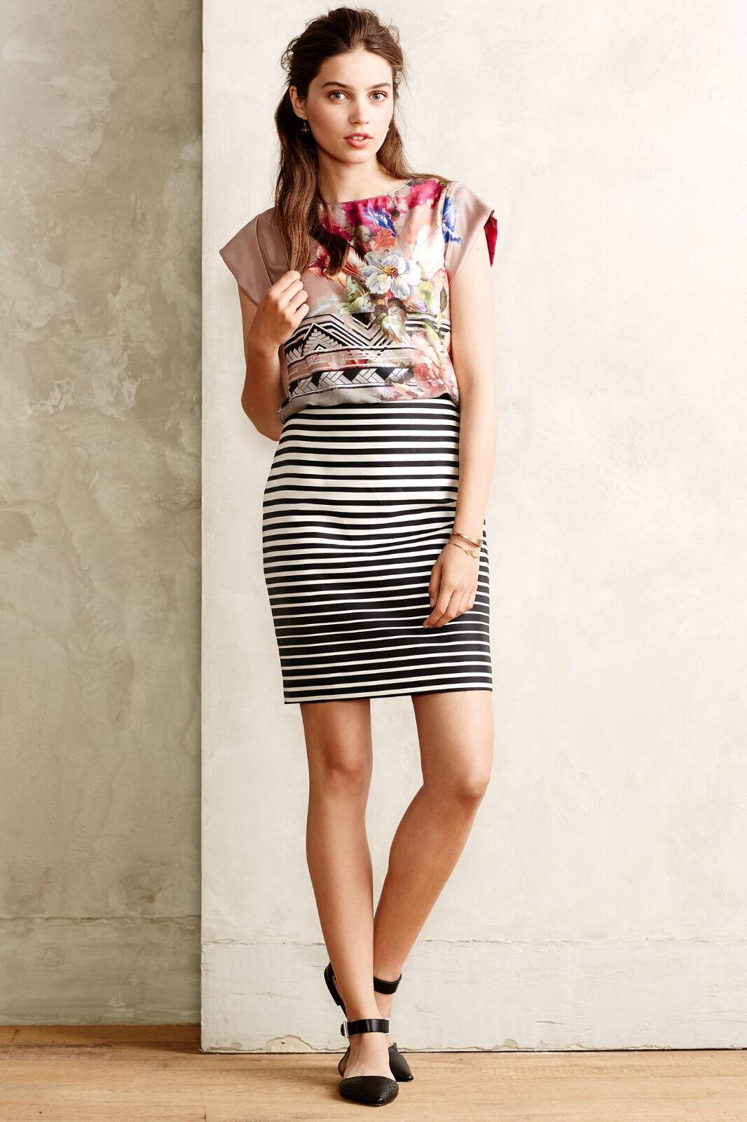 New  158 Anthropologie Optic Stripe Skirt by Corey Lynn Calter Size 4