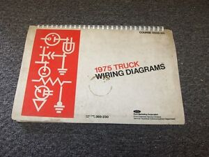 details about 1975 ford f250 f350 f500 f600 f750 f series electrical wiring  diagram manual