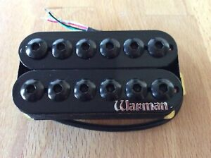 Warman Black 12 Gauge HOT 12 pole Neck Humbucking guitar pickup