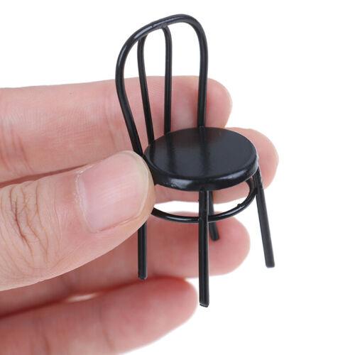 1Pc 1:12 Dollhouse Miniature Iron Chair Doll House Accessories Mini Chair Toys