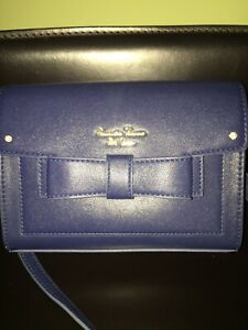SAMANTHA-THAVASA-PETIT-CHOICE-SHOULDER-SMALL-BAG-BOW-NAVY-NEW