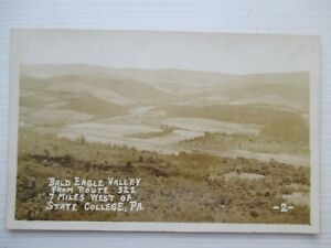 RPPC-Bald-Eagle-Alley-Route-322-State-College-PA-UDV-Back-Real-Photo-Postcard
