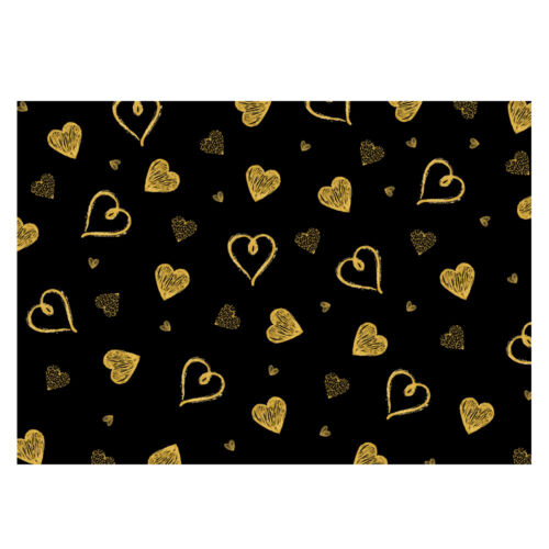 Multi Packs of Gold//Silver Hearts Gift Wrap 3 various sheet in pack-A3 GP251