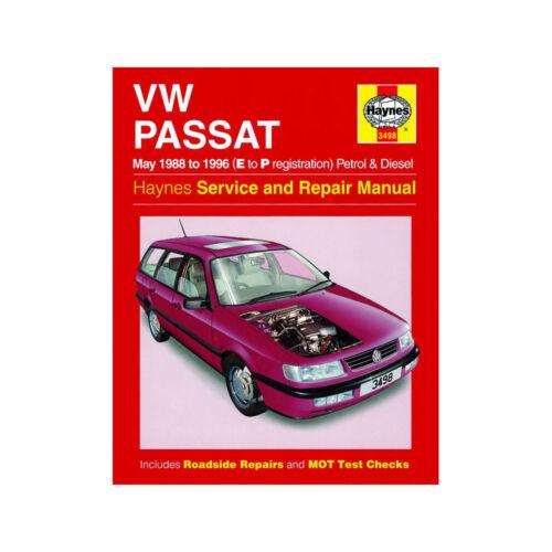 VW Passat Haynes Manual 1988-96  1.8 2.0 Petrol 1.9 Diesel Workshop