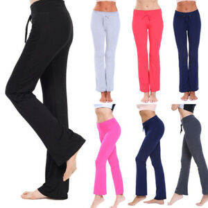 Women-039-s-Yoga-Pants-Foldover-Athletic-Stretch-Casual-Comfy-Soft-Wide-Leg-Leggings