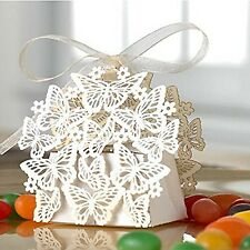 Pixnor 50 Pack Laser Cut Butterfly Wedding Favor Box Birthday NEW FREE SHIPPING