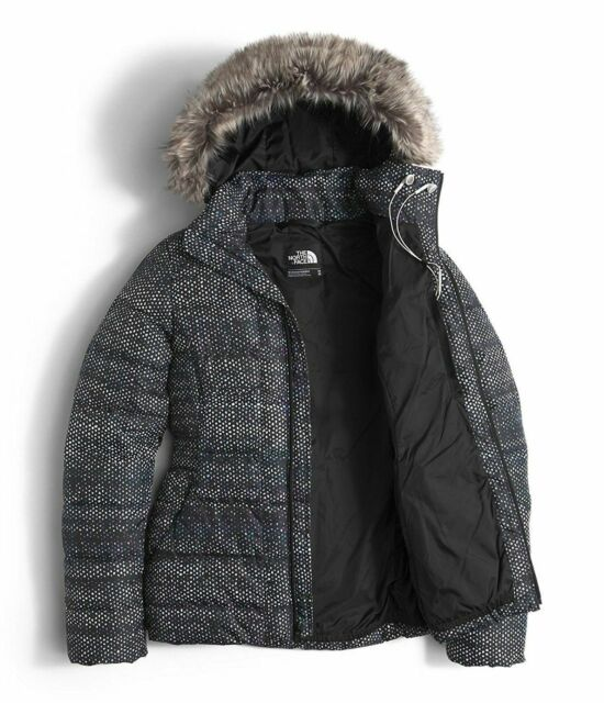 b03982ed5 The North Face Womens Black 550 Goose Down Gotham Hooded Jacket Coat