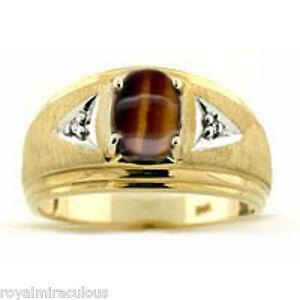 K Gold Tigers Eye Ring