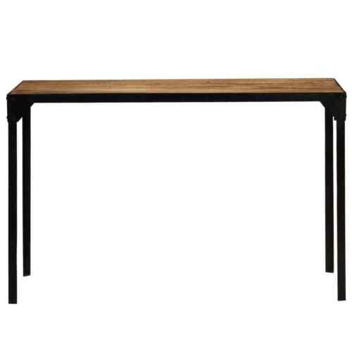 vidaXL Massief Ruw Mangohouten Eettafel 120 cm Staal Eetkamertafel Keukentafel