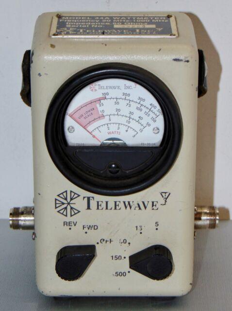 Wattmeter 44AP//UHF w//UHF connector /& tap Telewave
