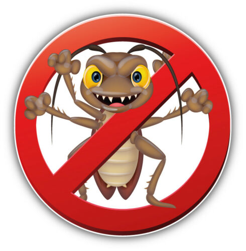 /'/'SIZES/'/' No Cockroach Ban Stop Sign Car Bumper Sticker Decal