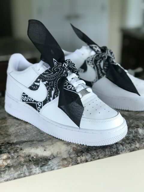 Nike Air Force 1 Black Pink Youths Trainers 5 5 For Sale Online Ebay