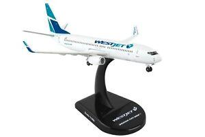 POSTAGE-STAMP-WESTJET-AIRLINES-737-800-1-300-SCALE-DIECAST-METAL-MODEL