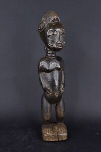 Statue-africaine-baoule-de-Cote-d-039-Ivoire-en-bois-2019-013
