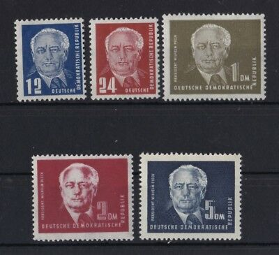 Ddr 1950 Postfrisch Minr 251-255 Präsident Wilhelm Pieck Geschichte