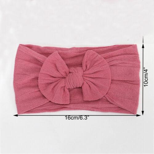 Nice Baby Bunny Rabbit Bowknot Turban Nylon Headband Elastic Hair Band Headwrap
