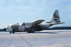 Original slide SU-BAU 1288 Lockheed C-130H Hercules Egypt Air Force, 1980s